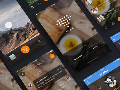 Jewel UI Kit interface ios graphic marketme resource webdesign mobile app design uikit ux ui