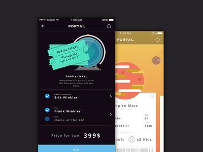 Space Portal UI Kit marketme resource graphic webdesign ios mobile app uikit ux ui