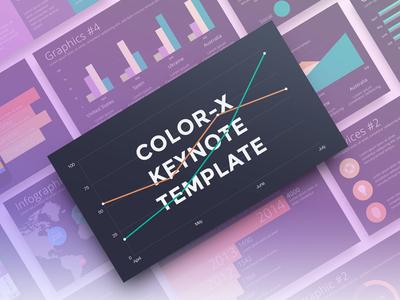 Color-X Keynote Template elegant resource marketme modern template design professional slides minimalist creative keynote presentation