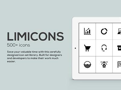 Limicons interface vector developer professional kit webdesign design ux ui icons