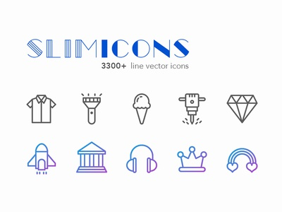 Slimicons illustration minimalistic modern icon user interface web design ux ui