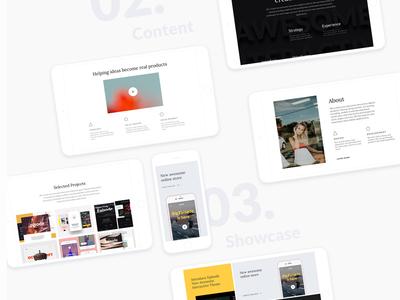 Episode - Personal creative web template resource marketme professional modern web minimalist ux ui interface design clean
