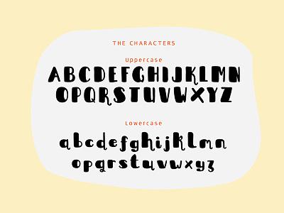 Sleepy Fat Cat Typeface marketme interface ui ux design lettering typography doodle cute fun font