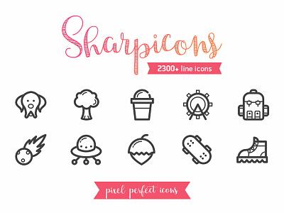 Sharpicons user web interface modern ux ui illustration icon design