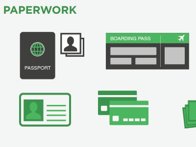 Paperwork Infographic infographic icons travel