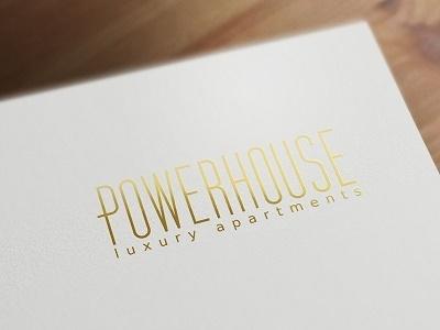 Powerhouse Apartments logotype typography real estate branding