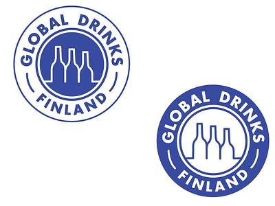 Global Drinks Finland Logo Re-design alcohol branding logos