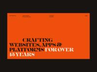 Personal Site | Desktop orange temporary radlines uidesign ui grid frontend development website personal