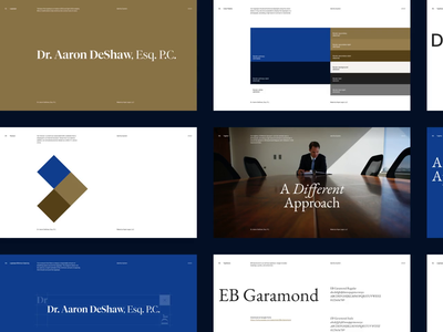 Dr. Aaron DeShaw — Brand Guidelines portland law firm lawyer law identity system logo branding brand identity brand guidelines mp4