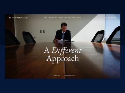 Dr. Aaron DeShaw | Desktop desktop law firm lawyer portland law branding ux ui