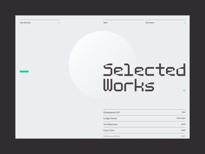 Toby Brancher —Work | Desktop projects portfolio work typography type grid ui architect developer react.js monospace proxy mono ui