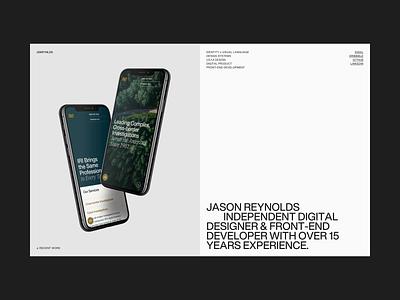 Personal Site   Desktop scroll desktop portfolio web design design type typography helvetica helvetica now personal ui grid layout