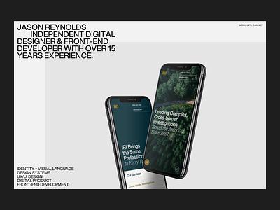 Personal Site–Alternative   Desktop website device mobile iphone grid ui personal portfolio minimal helvetica now typography type web design layout