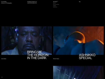 Kurt Ridell –All Work   Desktop documentary film helvetica now helvetica web design minimal type desktop design typography grid ui layout website