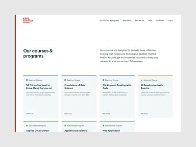 EPFL Extension School — Courses & programs   Desktop design ux ui university switzerland learning lausanne frontend development epfl education