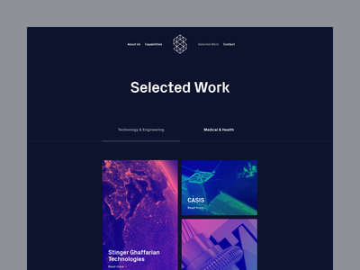Syntropy Studio — Selected work | Desktop space projects selected work engineering technology science design ux ui