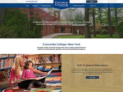 University Landing Page website ppc sem cta landing page university