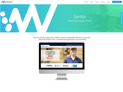 Website Theme Landing Page agency website landing page theme