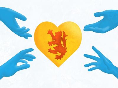 Nova Scotia Strong quarantine halifax lion heart ipad pro illustration procreate flag nova scotia