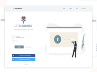 Login Page for GetRecruited web app