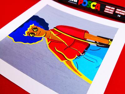 Style markers pens posca colors graphic light colourpallet drawing colour art color design illustration