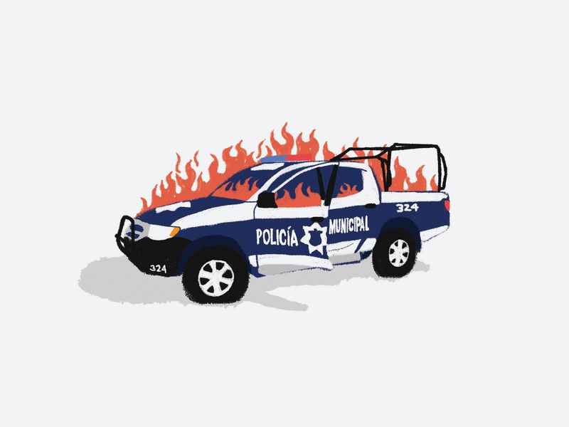 Patrulla Policia Municipal Jalisco Mexico design colors jalisco puercos policia municipal mexico acab truck police car fire on fire police