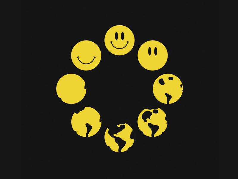 Happy World mexico union yellow cirlce smiley happy earth world
