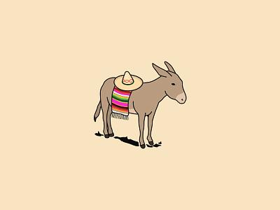 Burro Mexicano lines mexicano burro hat sombrero donkey mexico sarape
