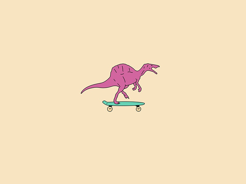 Dinosaur on a Pennyboard skateboarding skaters skating colors funny dinosaurs skate skateboard pennyboard dinosaur
