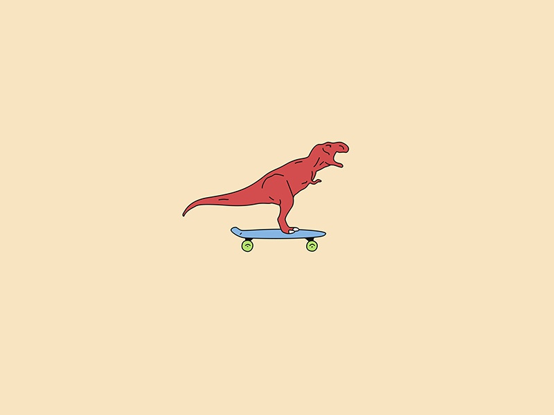 Dinosaur on a Pennyboard skating skaters skateboarding skateboard skate pennyboard funny dinosaurs dinosaur colors