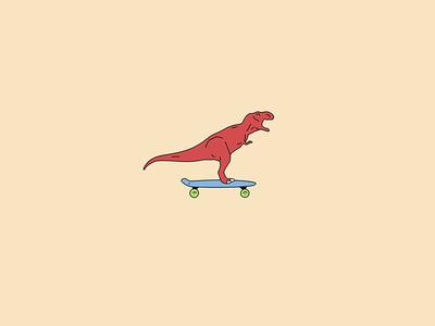 Dinosaur on a Pennyboard