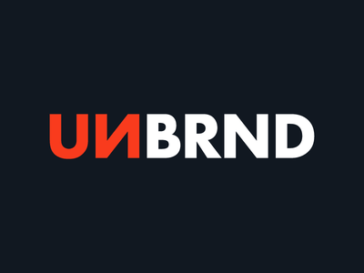 UNBRND® logo design branding clothing design clothing brand clothing label apparel design apparel unbranded unbrand unbrnd