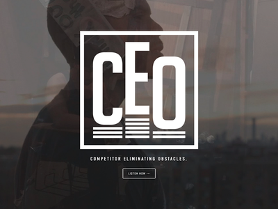 C-E-O album cover album art brand identity rapper musician website design website design branding logo design logo
