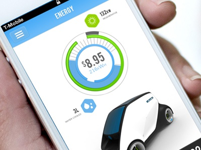 WIP - Energy UI user interface service design automotive energy sustainable eco