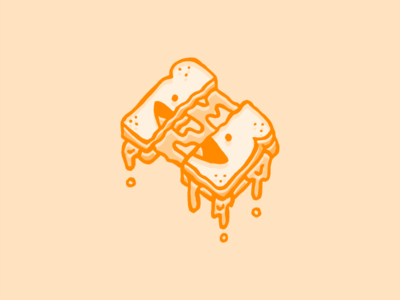 Grilled Cheese food dude guy dude cheese smile illustration food sandwich grilled cheese