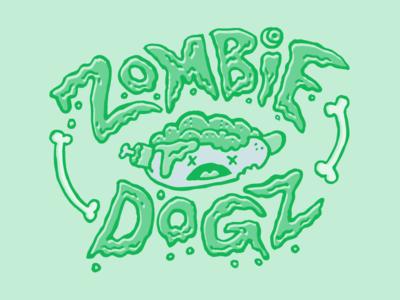 Zombie Dogz zombie dogz food type zombie hot dog illustration dude guy food dude