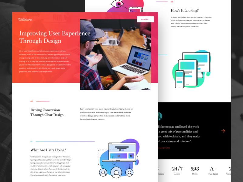 Whitelabel Services Landing Page ui design ux ui illustration icon design icons services agency landing page website web