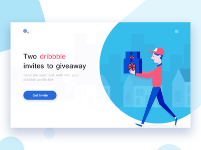 2 Dribbble Invites design home page debut thanks invitation invite dribbble invite