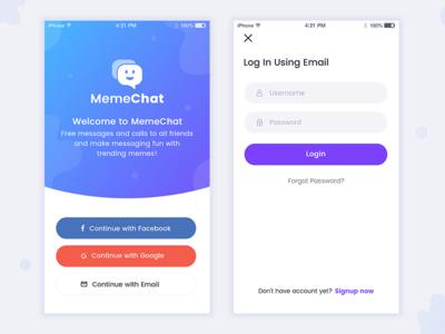 Chatting App-Login chat logo invite forgot password minimal ios singin app signup login