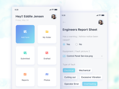 Forms Manager - Home Screen