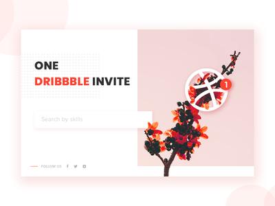 One Dribbble Invite welcome draft invite giveaway invitation illustration dribbble invite home thanks ui minimal