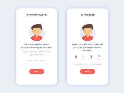 Forgot Password illustration ui forgotten signup invite ios character login otp verification forgot password