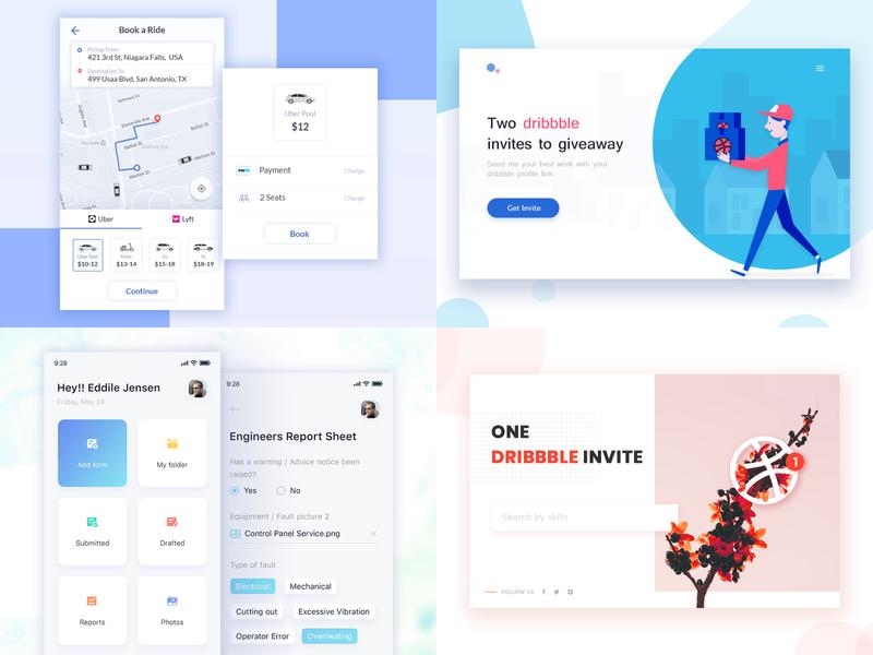 2018 dribbbleshot top4 ux branding typography vector design ui mobile app