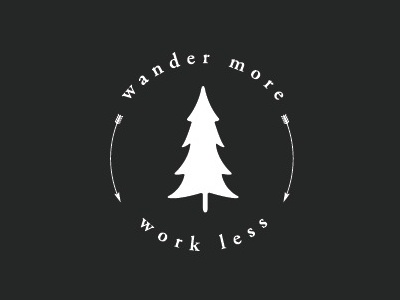 Wander more, work less nature outdoors creative logos art logo design branding art direction design