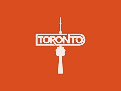 Sticker design for my hometown - Toronto! illustrator 6ix t dot canada ontario simple cn tower design graphic design type typography dribbble sticker design toronto sticker toronto