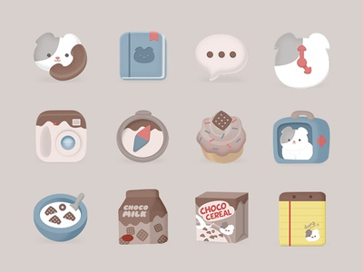 Duna's Chocolate Cereal Icon Pack icon cat sugarcat