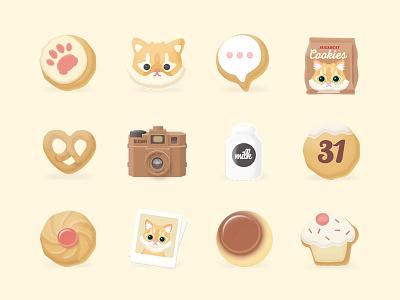 Kkukku's Cookies Icon Pack samsungtheme icon sugarcat