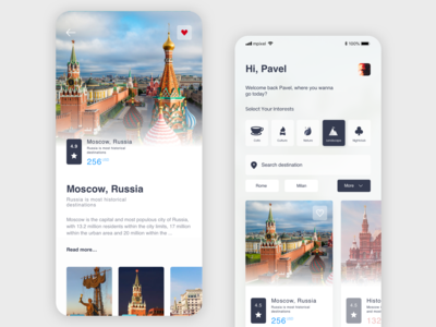 Travel application Moscow