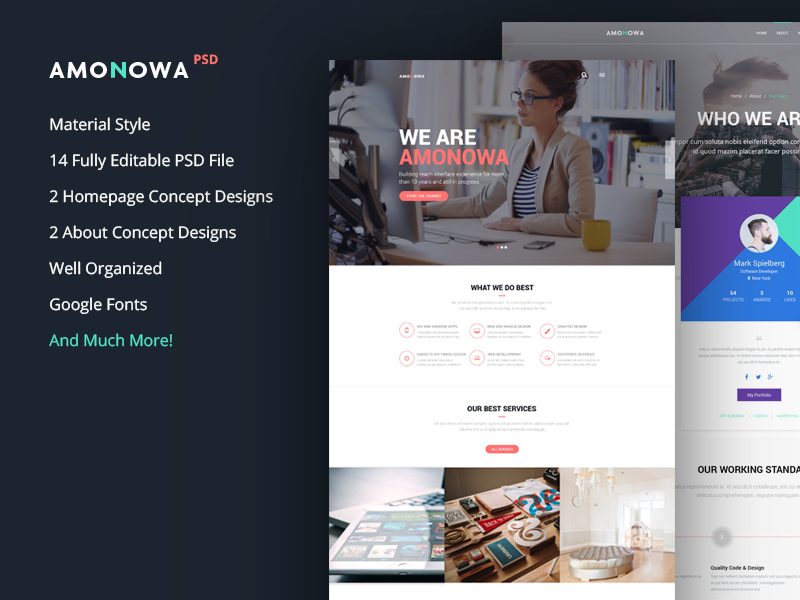 Amonowa PSD Template-img