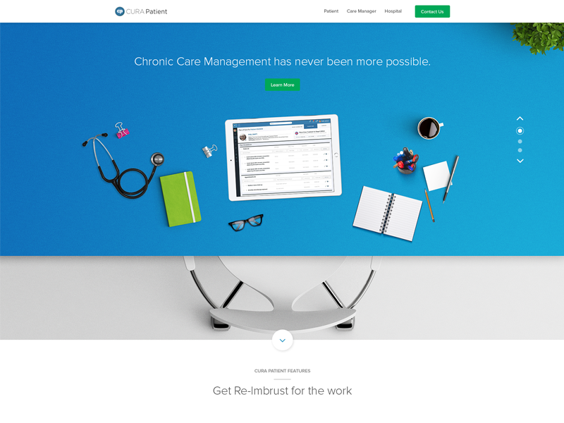 Cura Patient Landing Page-img